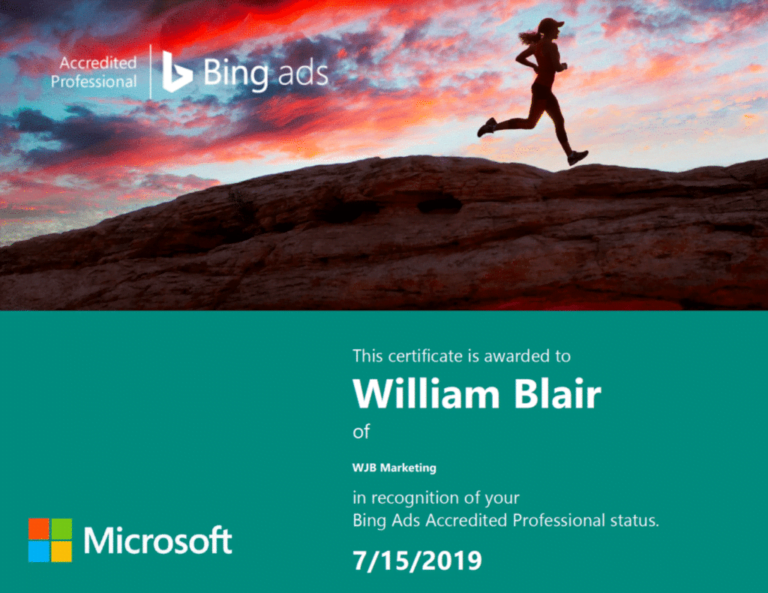 Bing accredited marketing professional