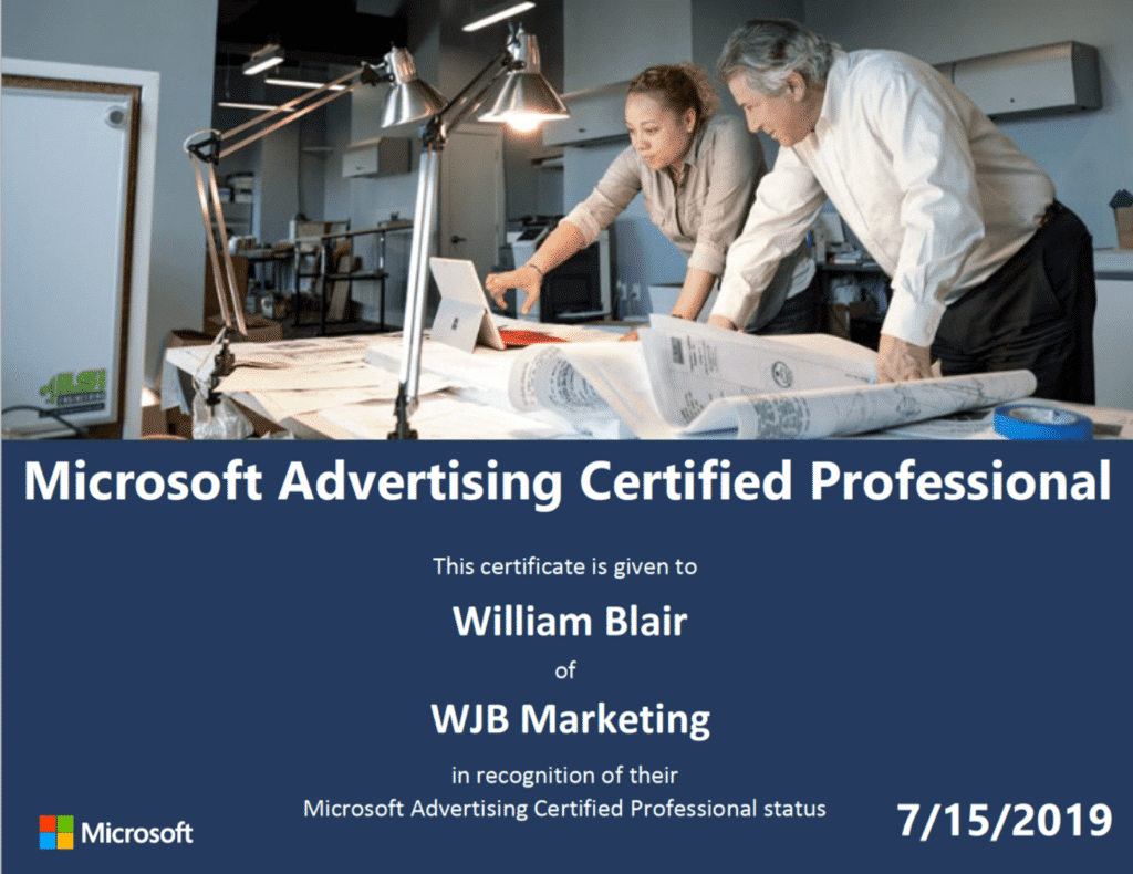 Microsoft Advertising and marketing accredited professionals