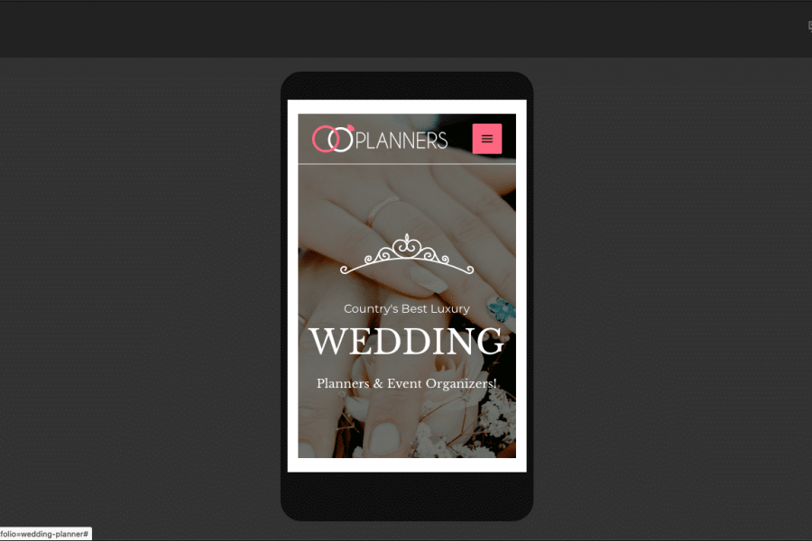 Custom-Responosive-Website-Design-The-Wedding-Planner-phone-view.