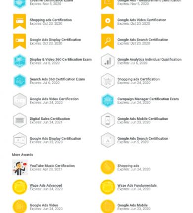 WJB Marketing certificationsWJB Marketing certifications